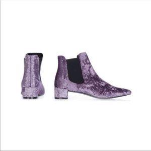 NEW TOPSHOP Purple Suede Booties